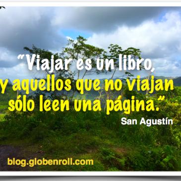 Viajar es un libro, y aquellos que no viajan sólo leen una página